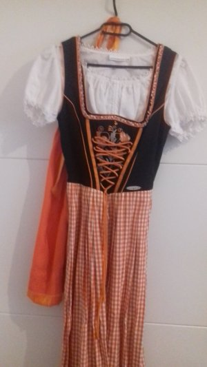 Spieht & Wensky Vestido Dirndl naranja