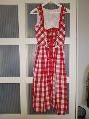 Spieht & Wensky Dirndl bianco-rosso