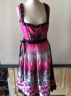 Spieth & Wensky Dirndl Gr 36 schwarz pink