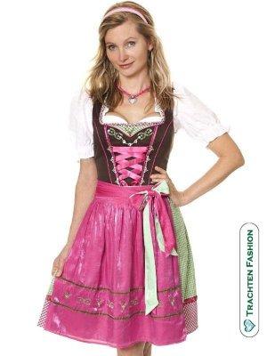 Spieth & Wensky Dirndl Loisa moos/pink Gr. 36