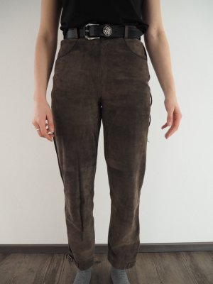 Spieht & Wensky Traditional Leather Trousers grey brown-black suede