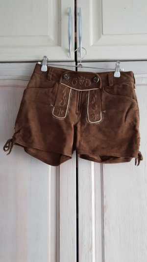 Spieth & Wensky Pantalon traditionnel en cuir brun-beige