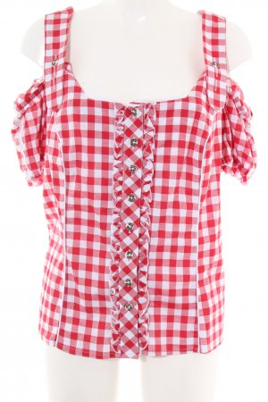 Spieth & Wensky Traditional Blouse red-white check pattern casual look