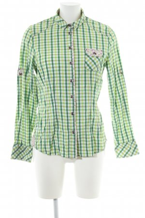Spieth & Wensky Traditional Blouse green-white check pattern casual look