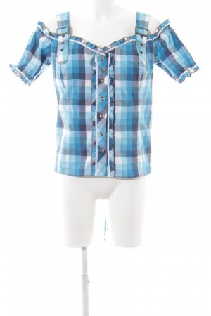 Spieth & Wensky Trachtenbluse Karomuster Casual-Look