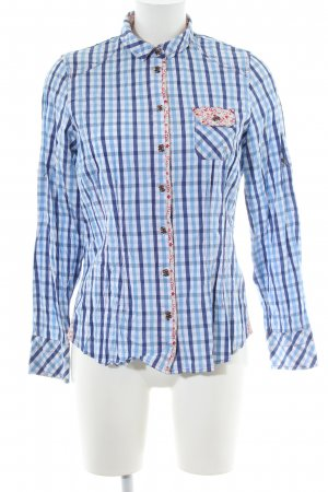 Spieth & Wensky Traditional Blouse blue-white check pattern casual look