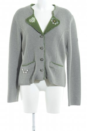 Spieth & Wensky Folkloristische jas grijs-bos Groen casual uitstraling