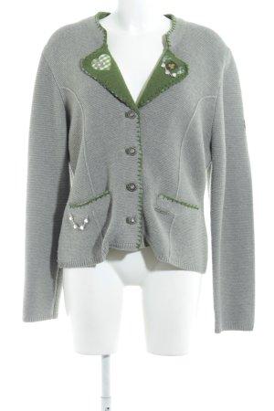 Spieth & Wensky Trachtenjacke grau-waldgrün Casual-Look