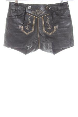 Spieth & Wensky Pantalone in pelle tradizionale nero stile classico