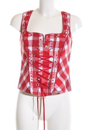 Spieth & Wensky Trachtenmieder rot-weiß Karomuster klassischer Stil