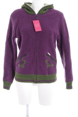 Spieth & Wensky Giacca di lana viola-verde prato stile casual