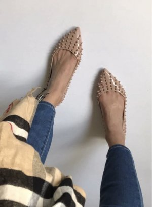 Patent Leather Ballerinas beige