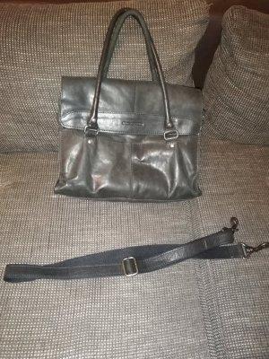 Spikes & Sparrow Handtasche Leder Schwarz