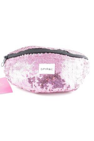 Spiral Marsupio rosa-nero con glitter
