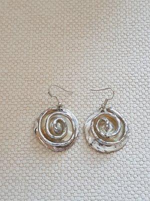Spiralförmige Silberohrringe