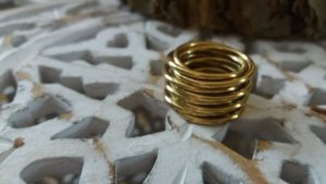 Christ Ring gold-colored