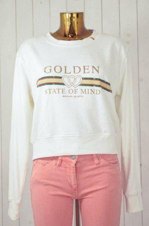 SPIRITUAL GANSTER Damen Sweatshirt Mod.Golden State of mine Ecru Print Gr.M