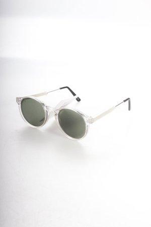 Spitfire runde Sonnenbrille silberfarben Retro-Look