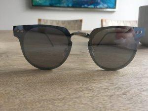 Spitfire silberne Spiegel Sonnenbrille