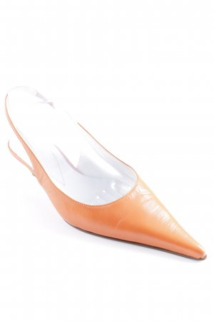 Pointed Toe Pumps dark orange classic style