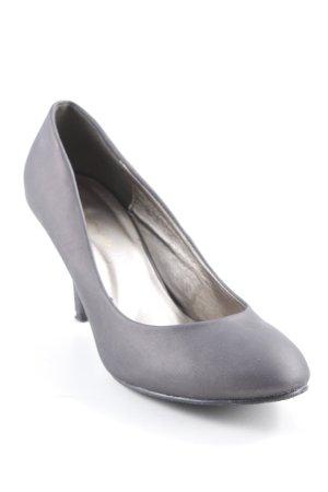 Zapatos de punta marrón grisáceo look casual