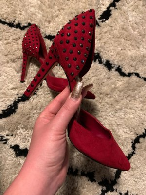 Spitz Pumps High Heels Calvin Klein Strass