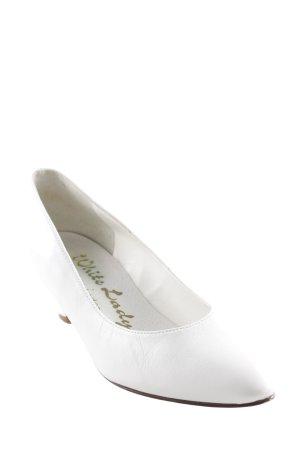 Spitz-Pumps weiß Elegant