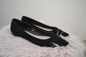 Asos Ballerine en pointe noir-gris anthracite faux cuir