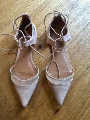 Spitze Ballerinas beige 39 Zara