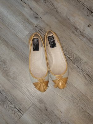 Spitze Ballerinas Canvas + Leder Gr.40