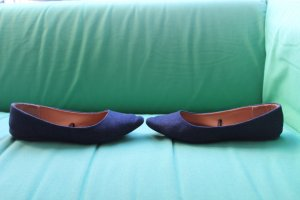 Spitze Ballerinas im Jeans-Look