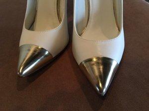 Spitze Blogger pumps weiß Silber Pointy high heels 37 38 zara Asos Mango