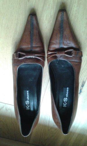 Spitze braune Schuhe von k+s shoes
