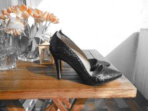 Spitze High Heels / glitzernd