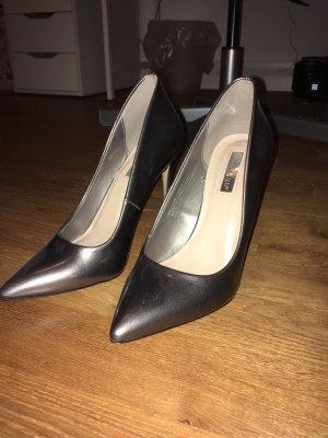 Spitze High Heels metallic