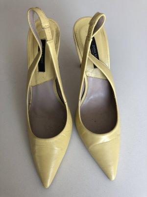 Spitze Highheels gelb von Zara Größe 37