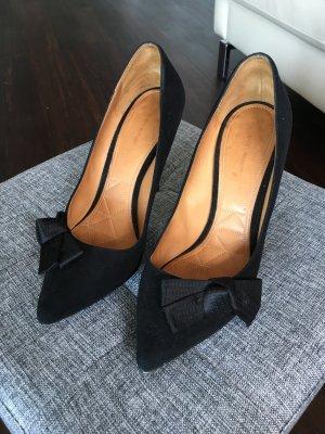 Spitze Isabel Marant Poppy Pumps High Heels Stilettos 38 37.5 Schwarz Wildleder