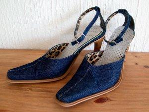 Spitze Jeans Pumps Gr. 38