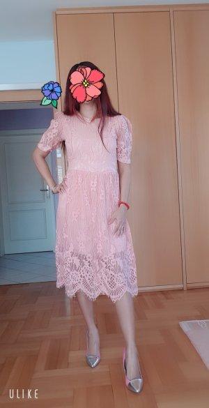 100% Fashion Abito felpa rosa pallido