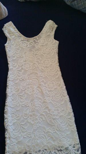 H&M Robe en dentelle blanc