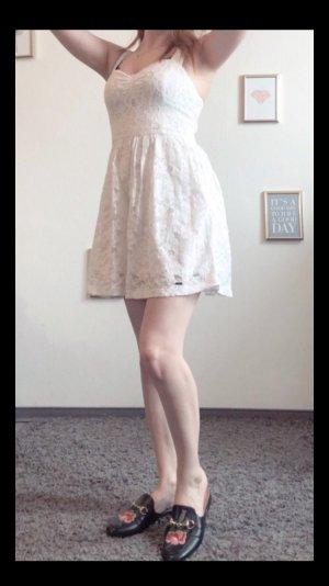 Hollister Vestido bustier blanco