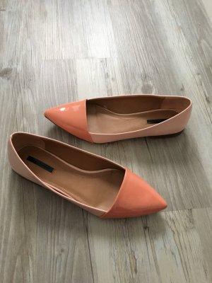 Zara Trafaluc Patent Leather Ballerinas multicolored