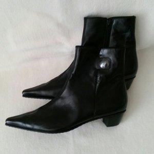 Paul Green Zipper Booties black leather