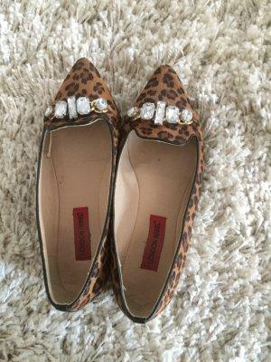 Spitze Leoparden Ballerinas