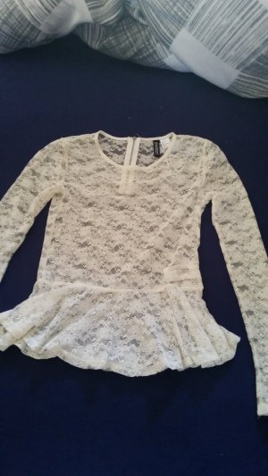 H&M Divided Blusa in merletto bianco