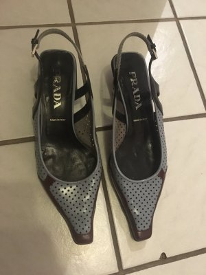 spitze Prada Schuhe mit Lochmuster