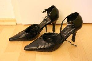 Spitze Pumps/ Highheels, schwarz, hoher Absatz, Größe 38