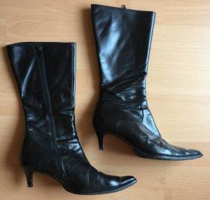 Laarzen met hak zwart
