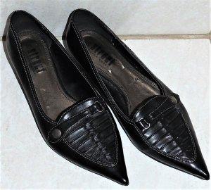 Spitze, schwarze Pumps von Street Super Shoes in Größe 38