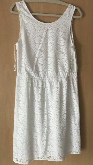 Bodyflirt Kanten jurk wit